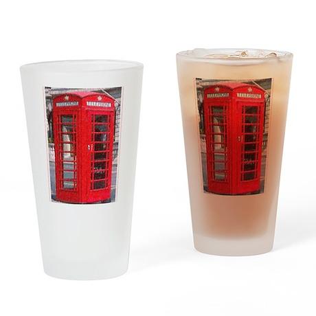 British Phone Booth Drinking Glass