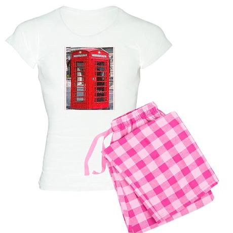 British Phone Booth Women's Light Pajamas