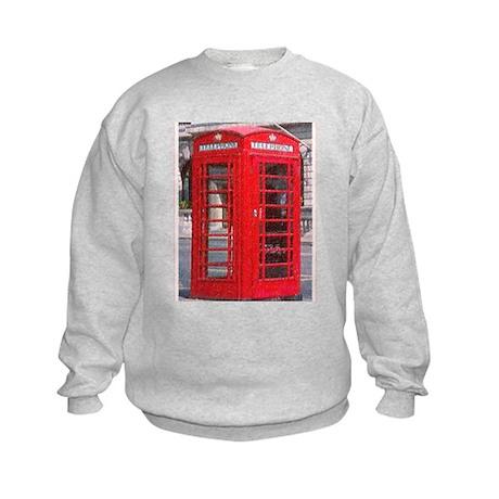 British Phone Booth Kids Sweatshirt