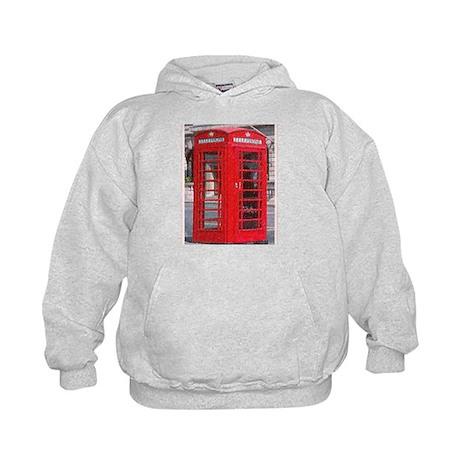 British Phone Booth Kids Hoodie