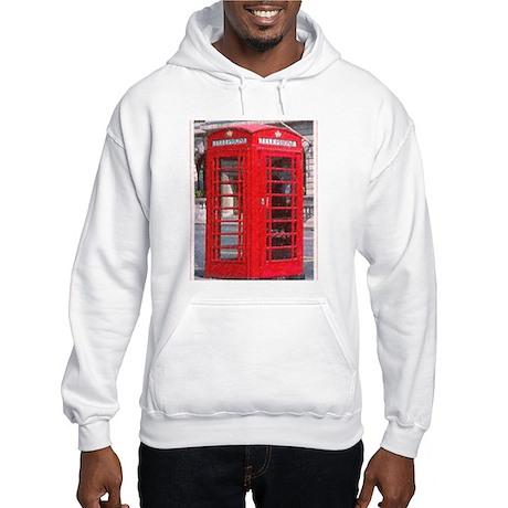 British Phone Booth Hooded Sweatshirt