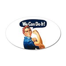 Rosie the Riveter 22x14 Oval Wall Peel