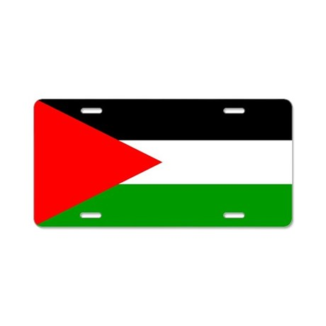 Flag of Palestine Aluminum License Plate