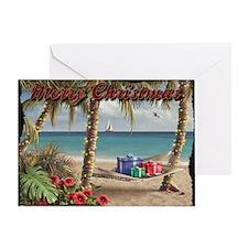 Merry Christmas Beach Holiday Card (Blank)