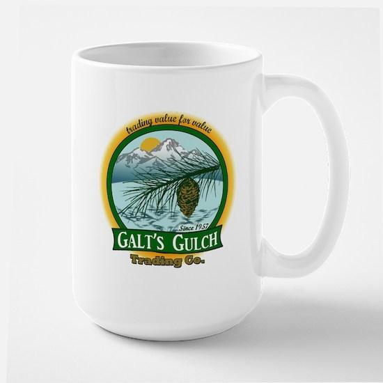 Galt's Gulch Green/Gold Large Mug