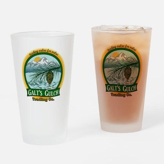 Galt's Gulch Green/Gold Drinking Glass