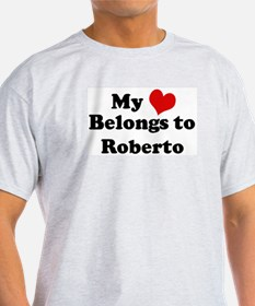 My Heart: Roberto Ash Grey T-Shirt