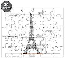 eiffel Tower Schematic Puzzle