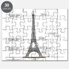 eiffel Tower Schematic Puzzle