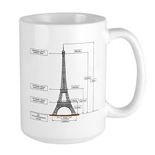 eiffel Tower Schematic Mug