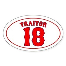TRAITOR 18 Oval Decal