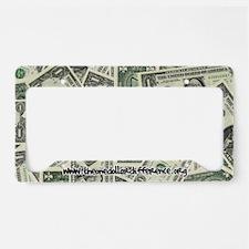 License Plate Holder - Dollars