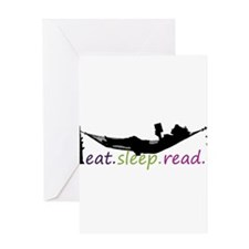 Unique Eat sleep read Greeting Card