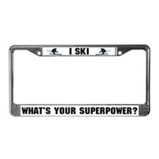 Ski Superhero License Plate Frame