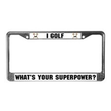 Golf Superhero License Plate Frame