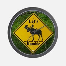 Moose Sign Humor Wall Clock
