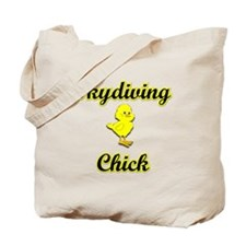 Skydiving Chick Tote Bag
