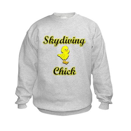 Skydiving Chick Kids Sweatshirt