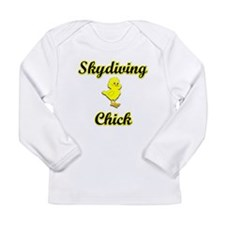 Skydiving Chick Long Sleeve Infant T-Shirt