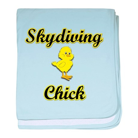Skydiving Chick baby blanket