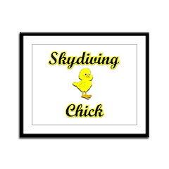 Skydiving Chick Framed Panel Print