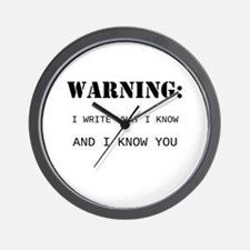 Write What You Know Wall Clock