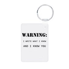 Write What You Know Keychains