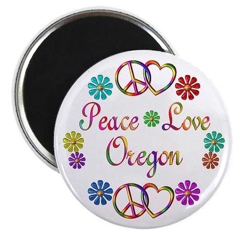 Peace Love Oregon Magnet
