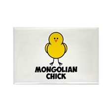 Mongolian Chick Rectangle Magnet