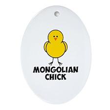 Mongolian Chick Ornament (Oval)