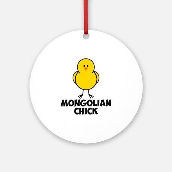 Mongolian Chick Ornament (Round)