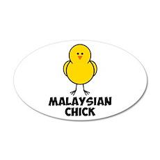 Malaysian Chick 22x14 Oval Wall Peel
