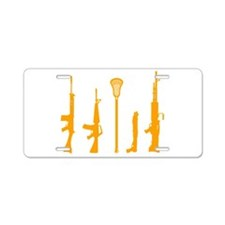Lacrosse Weapons Aluminum License Plate