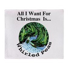 Christmas Peas Throw Blanket