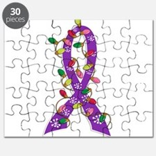 Christmas Lights Ribbon Domestic Violence Puzzle