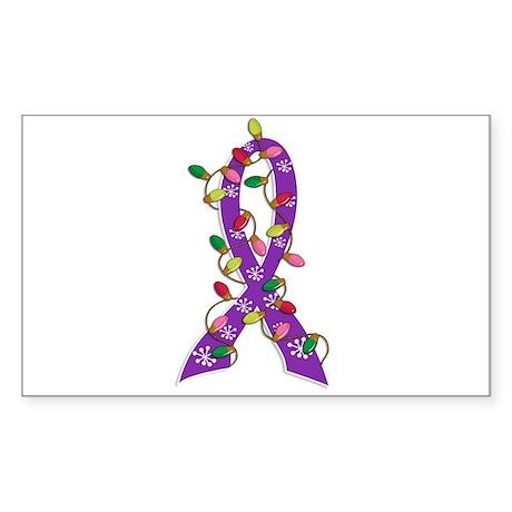 Christmas Lights Ribbon Domestic Violence Sticker