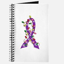 Christmas Lights Ribbon Domestic Violence Journal