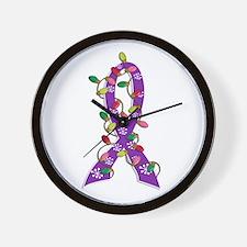Christmas Lights Ribbon Domestic Violence Wall Clo