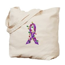 Christmas Lights Ribbon Epilepsy Tote Bag