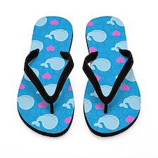 Little Blue Whale Flip Flops (Blue)
