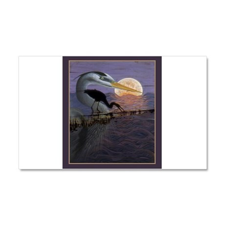 Blue Heron Car Magnet 20 x 12