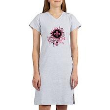 Pink Grunge Fleur Women's Nightshirt