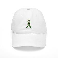 Christmas Lights Ribbon Liver Disease Baseball Cap