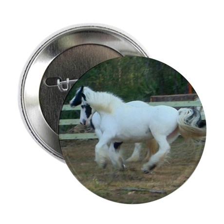 "Gypsy Vanner Horse 2.25"" Button (10 pack)"