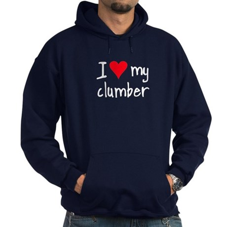 I LOVE MY Clumber Hoodie (dark)