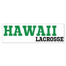 Hawaii Lacrosse Bumper Sticker