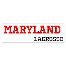 Maryland Lacrosse Bumper Sticker