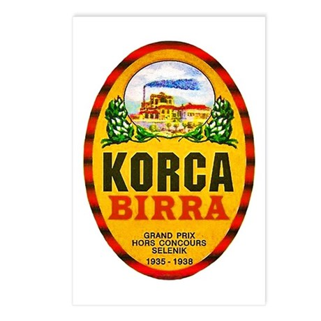 Albania Beer Label 1 Postcards (Package of 8)