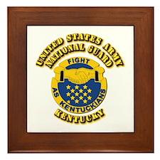 Army National Guard - Kentucky Framed Tile