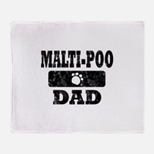 Malti-Poo Dad Throw Blanket